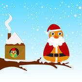 Christmas bird — Stok Vektör