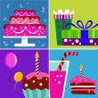 Birthday design elements — Stock Vector #8739308