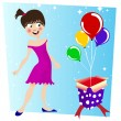 Stock Vector: Birthday surprise