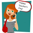 Stock Vector: Happy teachers day message