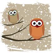 Зимняя птица — Cтоковый вектор