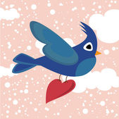 Love bird — Vector de stock