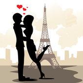Paris in love — Stock Vector