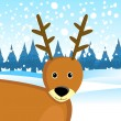 Deer  background - Stok Vektr