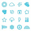 Weather icon set — Stock Vector #8846217