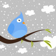 Winter bird — Stock Vector