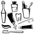 Stock Vector: Body care objects