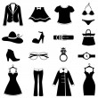 Stock Vector: fashion icon set
