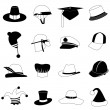 Stock Vector: Hat set