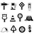 Traffic icon set — Stock Vector #8846878