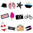 Royalty-Free Stock Vector Image: Travel icon set