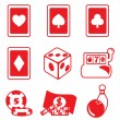 Gambling icon — Stock Vector