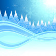 Winter background — Image vectorielle