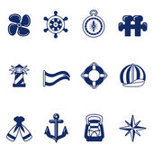 Sailing icons — Stock Vector