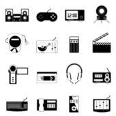 Electronic icon set — Stock Vector