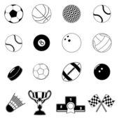 Sport item design elements — Stock Vector