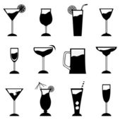 Glass set — Stock Vector