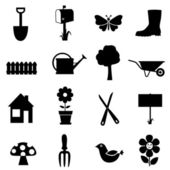 Garden icon set — Stok Vektör