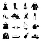 Fashion icons — Stock Vector