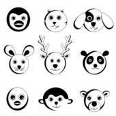 Cute animal face — Stock Vector