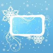 Winter decoration frame — Stock Vector