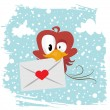 Royalty-Free Stock Векторное изображение: Love bird  winter version