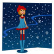 Stock Vector: Winter girl