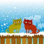 Cute cats — Stock Vector #8998705