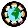 Royalty-Free Stock Vector Image: Children and earth