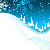 Fundo de inverno — Vetor de Stock