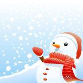 Snowman background — Stock Vector