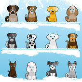 Cartoon cute dogs — Vettoriale Stock