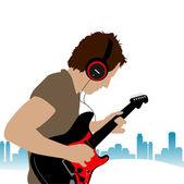 Guitar man — Stock Vector