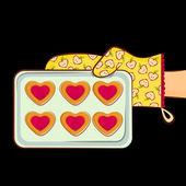 Forma de coração de cookie — Vetorial Stock