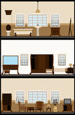 Vintage living room — Stock Vector