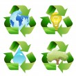 Recycle symbols — Image vectorielle