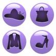Woman accessories — Stock Vector
