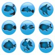 Fish icons — Stock Vector #9075522