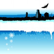 Stock Vector: Winter city