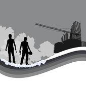 Workers background — Stock Vector