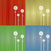 Floral colorful background — Stock Vector