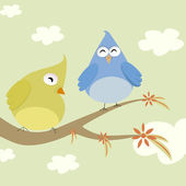 Couple birds — Stock Vector