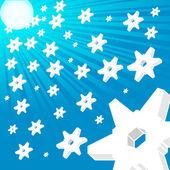 Winter hintergrund — Stockvektor