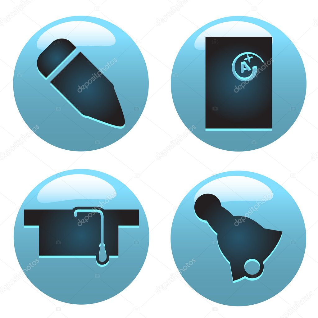 Education Icons Vector Free Download Education Icon Set — Vector by