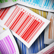 Multicolored bar codes square image - Stock Photo