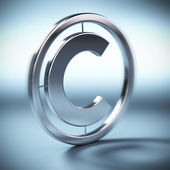 Copyright symbol background — Stock Photo