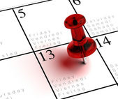 Superstitious friday the 13th background — Stock Photo