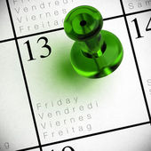 Friday the 13th - chance background — Stock Photo