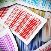 Multicolored bar codes square image — Stock Photo