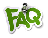 Green FAQ sticker — Stock Photo